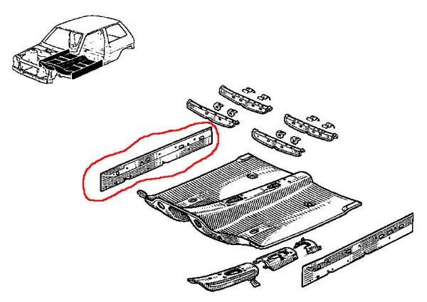 Renault 5 GT Turbo utilisé Siège Avant en Plastique Fixation Clips De Montage Arrière Point